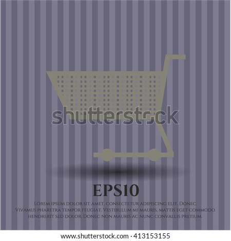 Shopping cart high quality icon