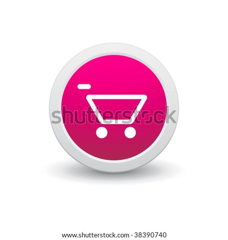 shopping cart icon. stock vector : Shopping cart
