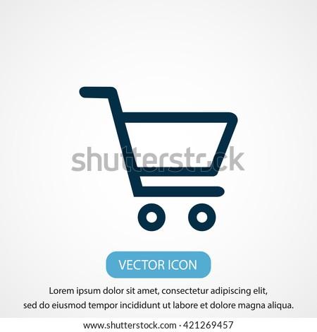 Shopping Cart Icon Foto stock ©