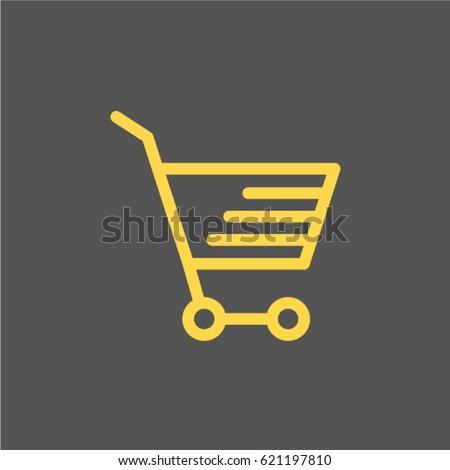 Shopping cart. icon