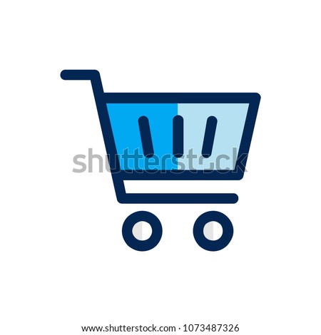 Shopping cart icon concept. Available in vector. Fullfiled color style.