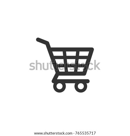 Shopping cart icon, e-commerce symbol