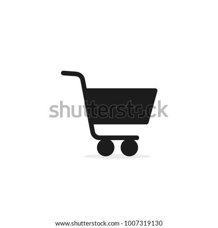 Shopping Cart Icon, flat design vector icon. Foto stock ©