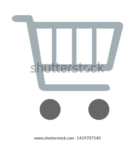 Shopping cart icon. flat illustration of Shopping cart vector icon for web