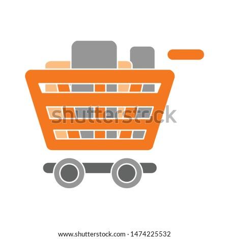 shopping cart icon. flat illustration of shopping cart vector icon. shopping cart sign symbol