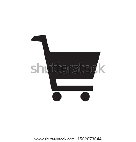 Shopping cart icon, flat sign, trolly, vector .