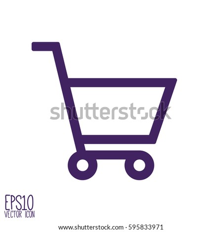 Shopping cart icon. Flat style for graphic and web design, Modern simple vector sign. Internet concept. Trendy symbol for website design web button, mobile app.