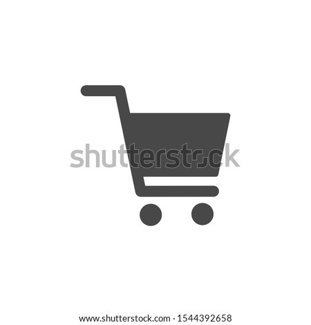 Shopping cart icon for store, online store, e-Commerce. In the vector.