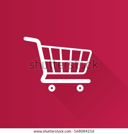 Shopping cart icon in Metro user interface color style. Buying ecommerce
