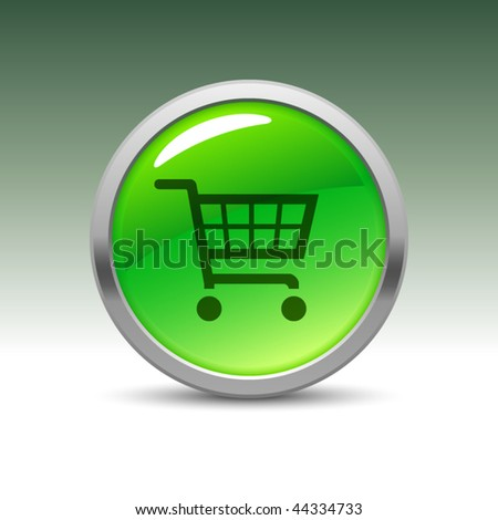 Shopping cart icon on green button