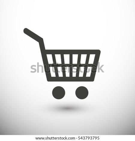 Shopping cart icon. One of set web icons