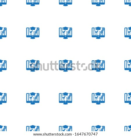 shopping cart icon pattern seamless isolated on white background. Editable filled shopping cart icon. shopping cart icon pattern for web and mobile.