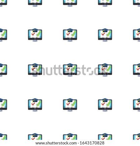 shopping cart icon pattern seamless isolated on white background. Editable flat shopping cart icon. shopping cart icon pattern for web and mobile.