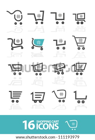 Shopping Cart  icon set (Vector)