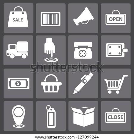 Shopping cart,icon set,vector