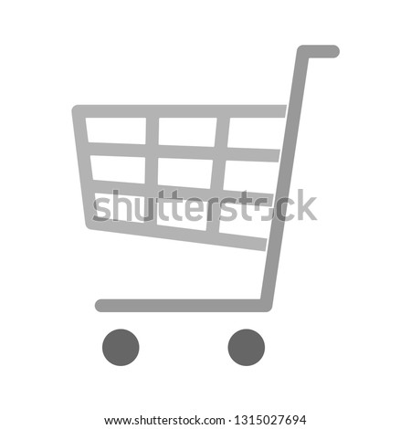 shopping cart icon - shopping cart isolated , e-commerce illustration - Vector online cart