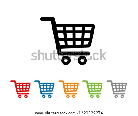 Shopping cart icon symbol vector. symbol for web site Computer and mobile vector.