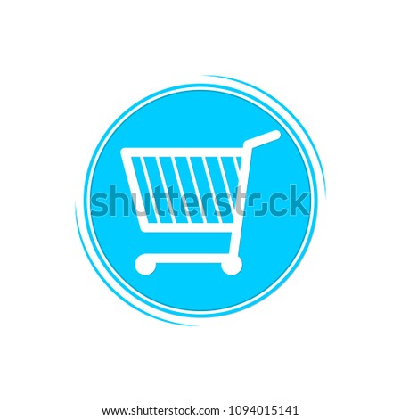 Shopping cart icon, trolley symbol design template, vector illustration