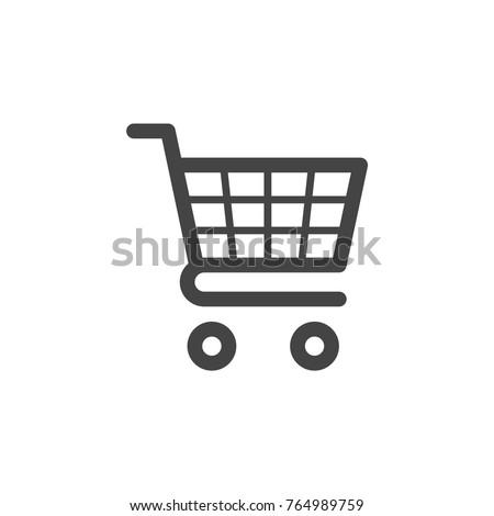 Shopping cart icon vector Foto stock ©