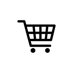 Shopping cart icon vector black. Shopping cart icon. Shopping cart. Business icon.