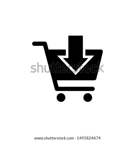 Shopping cart icon vector black. Shopping cart icon. Shopping cart. Shopping Cart Icon Vector Illustration.