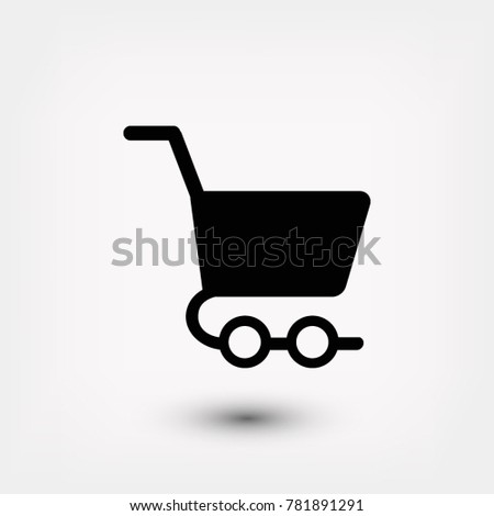 shopping cart icon, 