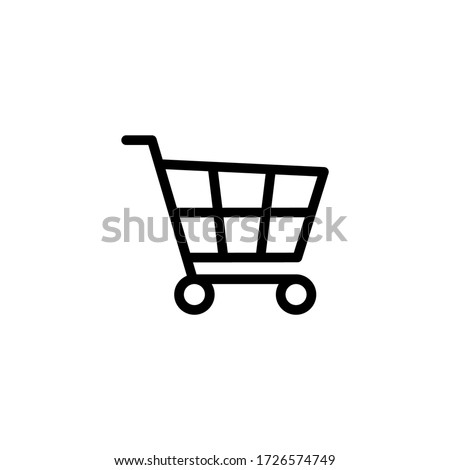 Shopping cart icon vector illustration