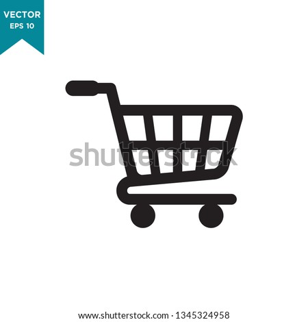 shopping cart icon vector logo template