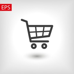 Shopping Cart Icon. Vector shopping cart Icon. Shopping cart illustration for web, mobile apps. Shopping cart trolley icon vector EPS 10