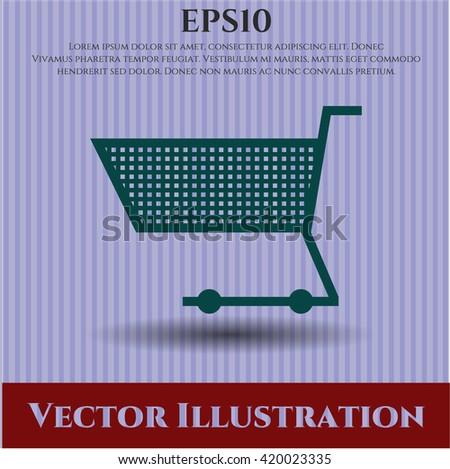 shopping cart icon vector symbol flat eps jpg app web