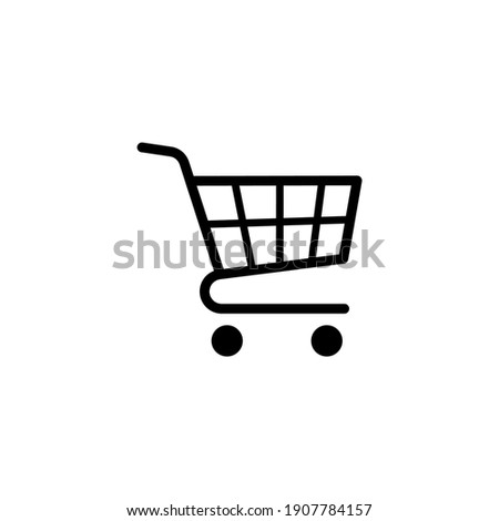 Shopping cart icon vector. Trolley cart icon in trendy flat design