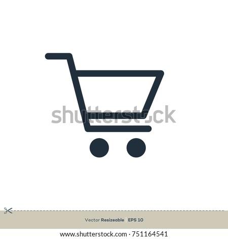 Shopping Cart Icon Vector. Trolley Logo Template