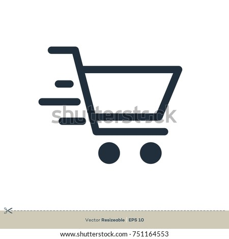 Shopping Cart Icon Vector. Trolley Logo Template Illustration Design. Vector EPS 10.