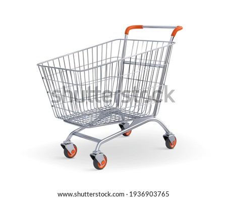Shopping cart isolated on white Vector illustration. Сток-фото ©