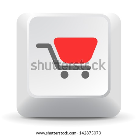Shopping Cart Keyboard Key