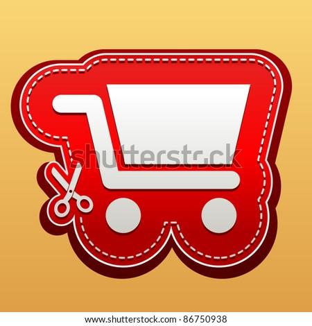Shopping cart sticker