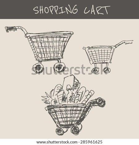 shopping cart trolley   in...