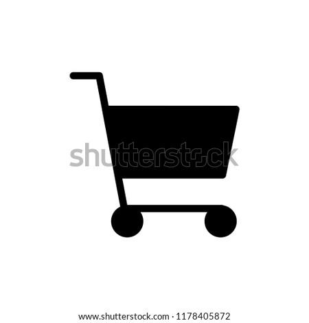 Shopping cart, trolley vector icon