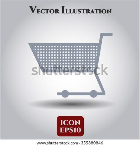 Shopping cart vector icon