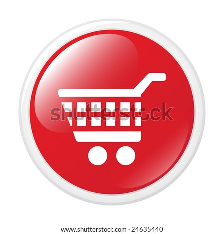 shopping cart icon. stock vector : Shopping cart.