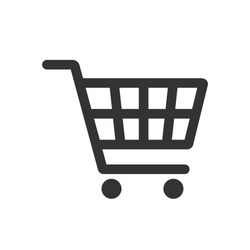 Shopping cart vector icon, flat design. Isolated on white background.