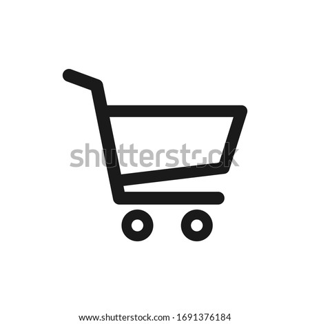 Shopping cart vector icon, flat design. Isolated on white background. Foto stock ©