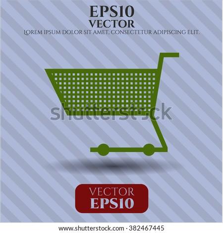 Shopping cart vector icon or symbol