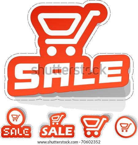 Shopping cart. Vector illustration.