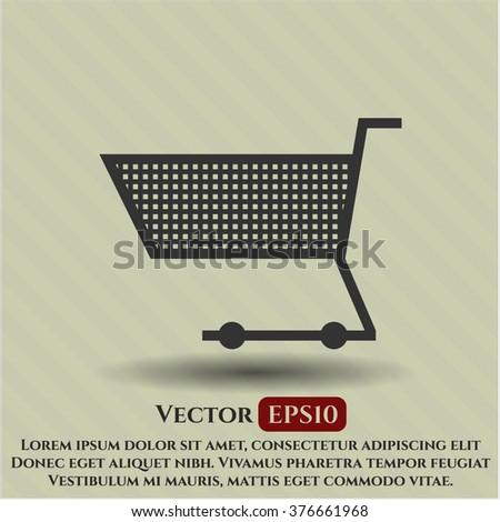 Shopping cart vector symbol