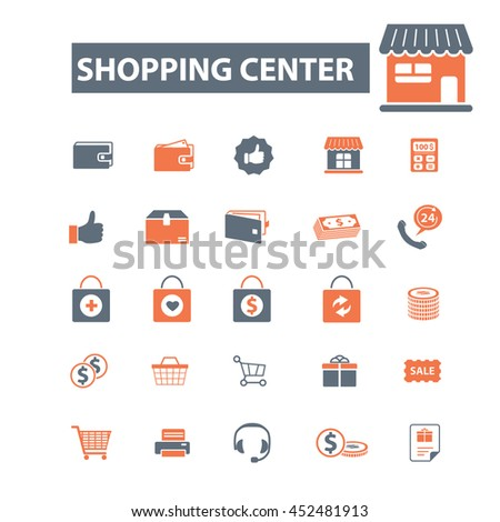 shopping center icons #452481913