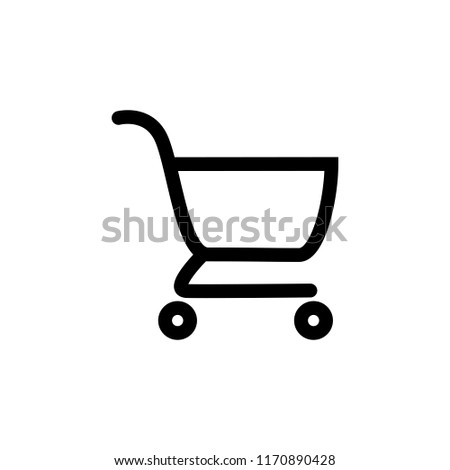 Shopping chart or trolley icon