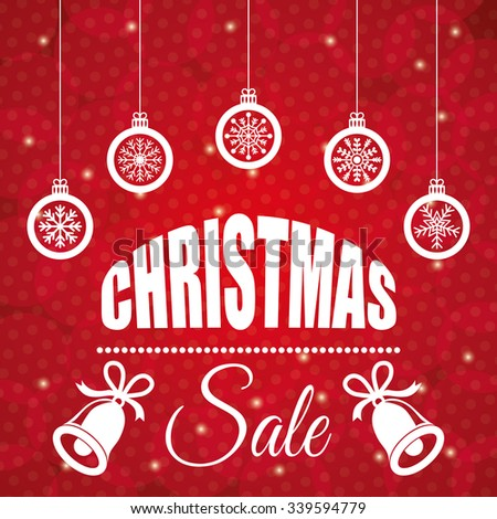 Shopping Christmas offers and discounts season, vector illustration design