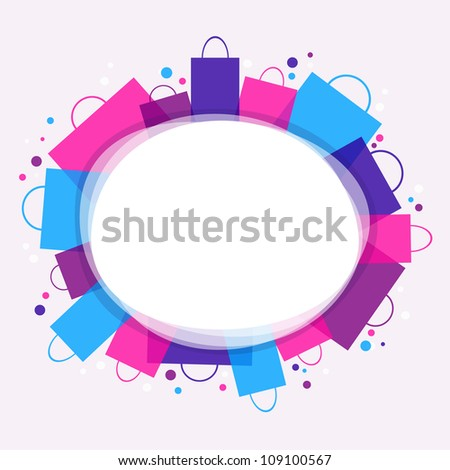 Shopping - color background with place for text. Vector version.