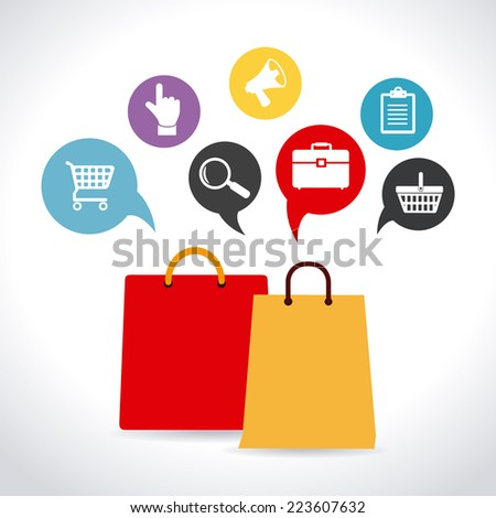 shopping design over white